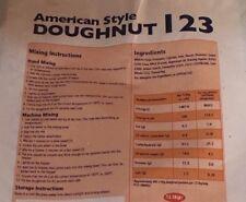 12.5kg AMERICAN DOUGHNUT Donut MIX, Bag Caterers Pack US Style Cafe Diner 12.5 K