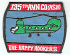 WARTIME US ARMY 195TH AVIATION COMPANY HAPPY HOOKERS PATCH HELICOPTER ( 187)