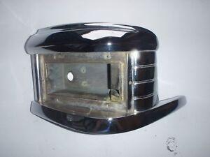 LH CHROME Parking Light Body / Housing 49 50 Frazer , Kaiser Frazer # 204564