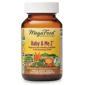 MegaFood    Baby & Me 2    Prenatal Multi-Vitamins    60 Tablets    Brand NEW   