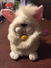 1998 White Furby Tiger Electronics pink ears blue eyes 70 - 800
