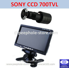 "170° Wide Angle SONY CCD Door Camera w/ 7"" LCD Monitor Home Surveillance System"