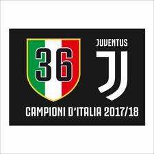 Bandiera Juventus 36 scudetto 100x140 cm Campioni d'Italia 2017 2018 JJ Official