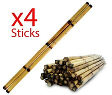 "x4 Escrima Sticks, 28"" Multi-Node Rattan Kali Arnis - Burn with Skin"