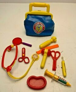 Sesame Street Doctor's Kit 1993 Vintage Bag Medicine Toy Big Bird TYCO Extras
