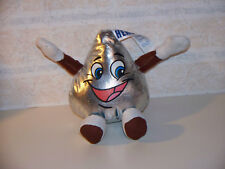 """The PETTING Zoo Silver 9"""" Hershey Kiss Smiling Face With Arms & Legs Plush Toy"""