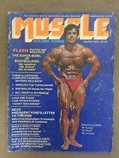 MUSCLE BUILDER bodybuilding magazine/ FRANCO COLUMBU /Arnold Schwarzenegger 3-75
