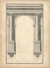 Stampa antica ARCHITETTURA COLONNA ARCO TOSCANO 1912 Antique Print ARCHITECTURE