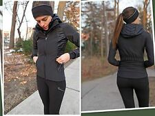 NWT Lululemon Sz 4 Black Wind Runner Soft Shell Jacket Vest Snow Coat Rain Run