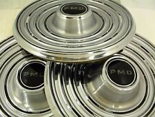 """1969 PONTIAC HUBCAPS 15"""" WHEEL COVER PMD LOT OF 3"""