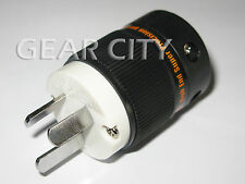 ppl6a Rhodium AU Mains Power Plug Male Copper Connector Cable Cord 3 Pin HiFi