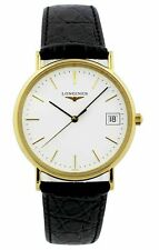 Longines Presence White Automatic Leather Watch L47202122 / L48192122  New Orig