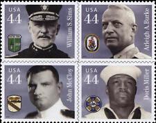 2010 44c Distinguished Sailors, Block of 4 Scott 4440-43 Mint F/VF NH