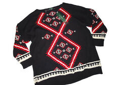 LRL RALPH LAUREN polo Womens aztec SWEATER  black Red Size 3X $165