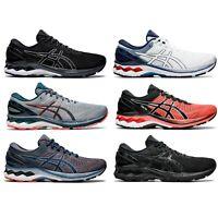 Asics Gel Kayano 27 Mens Athletic Running Comfort Shoes Black White Sizes 8-13