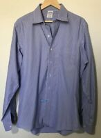 Brooks Brothers Dress Shirt Blue Stripe Non Iron Button Up 16 1/2 - 36 Mens