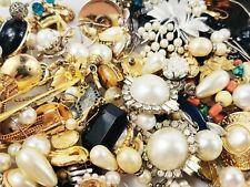 HUGE Vintage Modern Jewelry Lot 10 LBS WEARABLE Signed Earrings Necklaces More