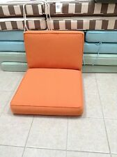 Pottery Barn sectional univs armless chair Sunbrella CUSHION Tuscan orange 27x30