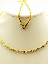 21k Solid Yellow Gold Sparkle Star Chain/ Necklace 9 Grams