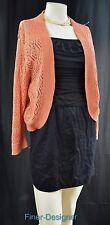 Worthington loose knit cardigan sweater bolero shrug open top shimmer XL NEW