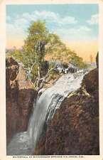 Richardson Springs California birds eye view waterfall antique pc Y13643