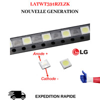 LED 3535 RETRO-ECLAIRAGE TV LG 2W 6V BLANC FROID 47LB461VA 47LB580V 50LB5600