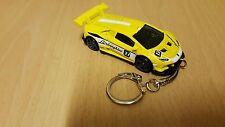 Diecast Lamborghini Huracan LP620-2 Super Trofeo Yellow Toy Car Keyring Keychain