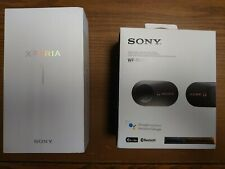 Used Sony Xperia 1 cell phone and Used Sony Wf-1000Xm3 Headset