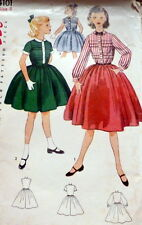 LOVELY VTG 1950s GIRLS' DRESS Sewing Pattern 8