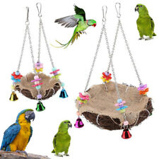 KQ_ FP- KQ_ Pets Bird Toy Parrot Hanging Swing Rope Cage Toys Parakeet Cockatiel