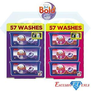 Bold All in 1 Washing Liquid Capsules Pods 57 Washes Lavender & Sparkling Bloom