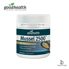 NEW Green Lipped Mussel 2500 Good Health Joint Support 300 Caps New Zealand
