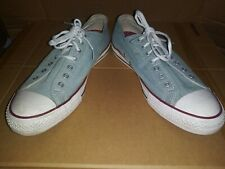 Converse All Star Low Tops: Light Blue Denim Look; Size 9 Men's, 11 Woman's