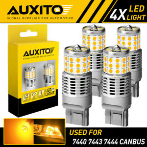 4X AUXITO 7440 Anti Hyper Flash LED Turn Signal Light for Honda Accord Civic EA