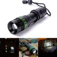 3500LM Q5 LED Zoomable Flashlight Torch Linterna Waterproof Lamp Camping Caza