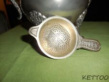Tetley Tea Strainer Advertising Tea Leaf Catcher Over The Cup Silver Plate 1920