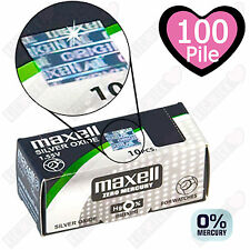 100 Pile Maxell Free Mercury 377 Ossido D'argento Batteria Bottone SR626SW 1.55V