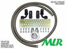 NOVA CORSA ASTRA -8 S/acciaio Tubo intrecciato Radiatore olio kit attacchi