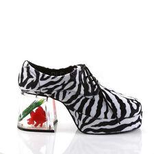 sale retailer cdc2c 13585 Nueva plataforma de hombre de piel de cebra blanco negro 70s discoteca Pimp  Brady grupo zapatos