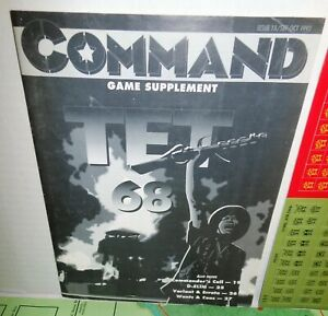 BOARD WARGAME Command #18 Vietnam TET '68 Game Supplement op GAME ONLY 1992