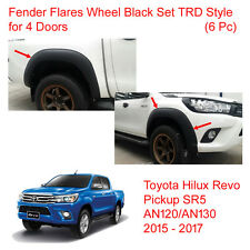 Fender Flares Wheel Black Set TRD 4 Doors 4 Pc For Toyota Hilux Revo 2015 - 2017
