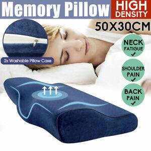 Health Care Memory Foam Neck Pillow Cushion Support Rebound Contour Pain Relief