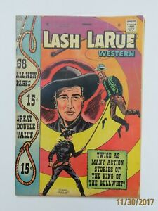 Lash LaRue Western Vol 8 No 67 GD/VG 3.0 Giant Issue feat. Davy Crockett 1958