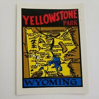 Vintage Travel Decal Water Transfer Souvenir 50's Yellowstone National Park