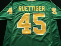 Rudy Ruettiger Signed Autographed Green Football Jersey JSA COA Notre Dame Great