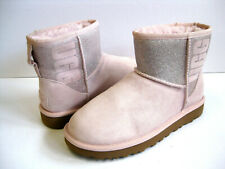 UGG CLASSIC MINI SPARKLE WOMEN ANKLE BOOTS PINK US 10 /UK 8 /EU 41