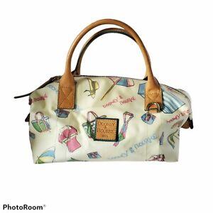 Vintage Dooney & Bourke Miami Summertime Beach Satchel Bag Purse