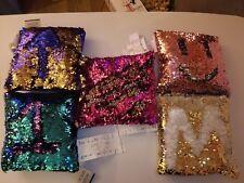 Reversible Sequin Pillows - New 5Pc Set