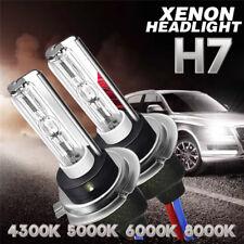 2X 55W H7 HID Xenon Headlight bulbs Metal Base 3500-4500LM 4300/5000/6000/8000K