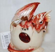 """Baby Birthstone Dragon Egg For January 4"""" High Poly Resin, Fantasy Collectible"""